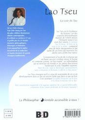 Lao tseu - 4ème de couverture - Format classique