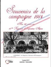 Souvenirs de la campagne de 1914 : mes 90 jours au 97eme Régiment d'Infanterie alpine - Couverture - Format classique