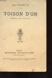 Toison D'Or - Monologue Pour Un Ejeune Fille - Couverture - Format classique