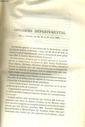 CONCOURS DEPARTEMENTAL tenu à Brioude les 28, 29 et 30 aout 1886 - Couverture - Format classique