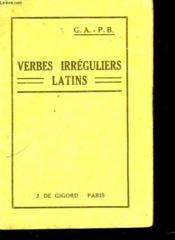 Verbes Irreguliers Latins - Couverture - Format classique