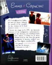 Emma et Capucine ; le journal pour tout savoir sur la danse - 4ème de couverture - Format classique