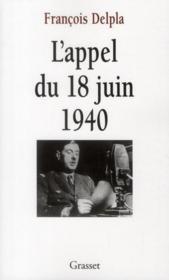L'appel du 18 juin 1940 - Couverture - Format classique