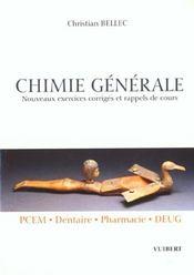 Chimie generale au pcem - Intérieur - Format classique