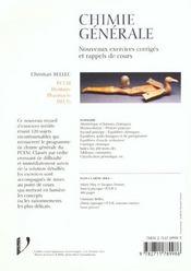 Chimie generale au pcem - 4ème de couverture - Format classique