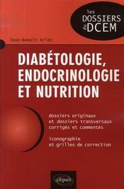 Diabétologie, endocrinologie et nutrition - Intérieur - Format classique
