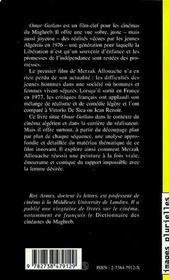 Omar Gatlato de Merzak Allouache ; un regard nouveau sur l'Algérie - 4ème de couverture - Format classique