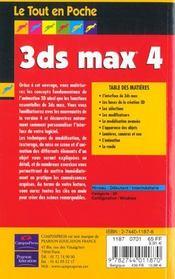 3ds Max 4 - 4ème de couverture - Format classique