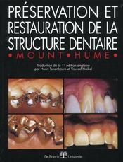 Préservation et restauration de la structure dentaire - Intérieur - Format classique