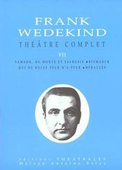 Theatre Complet T Vii - Intérieur - Format classique