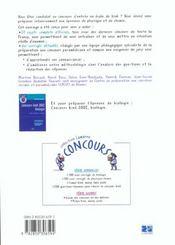 Concours Kine 2002 Physique Chimie - 4ème de couverture - Format classique