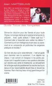 Guide totus - des fiancailles - 4ème de couverture - Format classique
