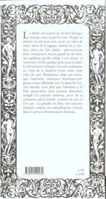 La ruelle mal assortie - 4ème de couverture - Format classique