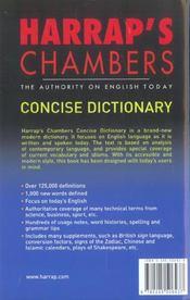 Harrap's chambers concise dictionary english - 4ème de couverture - Format classique