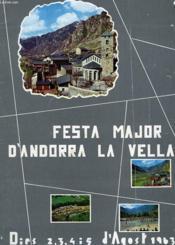 Festa Major D'Andorra La Vella - Couverture - Format classique