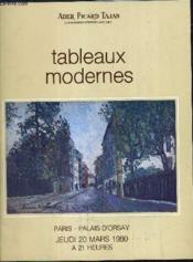 Catalogue De Ventes Aux Encheres - Tableaux Modernes Vente A Paris Palais D'Orsay - Jeudi 20 Mars 1980. - Couverture - Format classique
