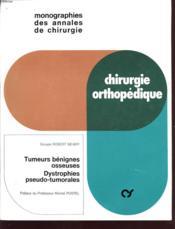 Tumeurs bénignes osseuses - Couverture - Format classique