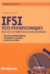 IFSI ; tests psychotechniques - Couverture - Format classique