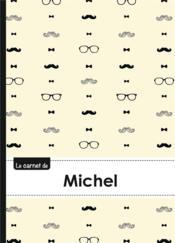 Carnet Michel Lignes,96p,A5 Moustachehispter - Couverture - Format classique