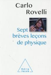 Sept brèves leçons de physique - Couverture - Format classique