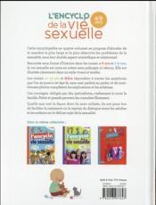 L'encyclo de la vie sexuelle ; 4-6 ans - 4ème de couverture - Format classique