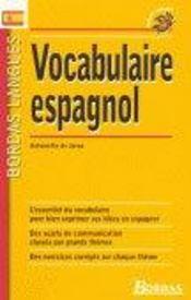 Vocabulaire espagnol - Intérieur - Format classique