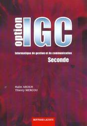 Option Igc Seconde / Arouh Mercou - Intérieur - Format classique