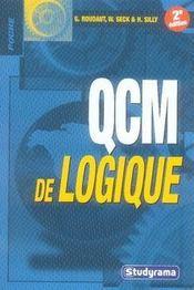 Qcm de logique (2e édition) - Intérieur - Format classique