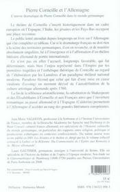 Pierre Corneille et l'Allemagne - 4ème de couverture - Format classique