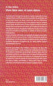 Vivre Bien Avec Et Sans Stress - 4ème de couverture - Format classique