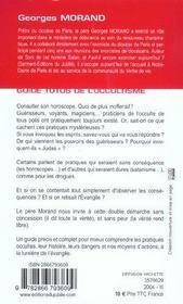 Guide totus - de l'occultisme - 4ème de couverture - Format classique