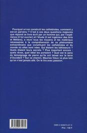 Secrets des batisseurs - 4ème de couverture - Format classique