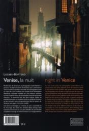 Venise, la nuit ; night in Venice - 4ème de couverture - Format classique