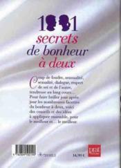 1001 secrets de bonheur à deux - 4ème de couverture - Format classique