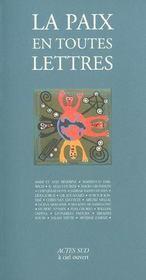 La paix en toutes lettres - Intérieur - Format classique