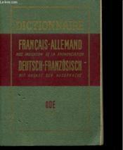 Dictionnaire Francais-Allemand Avec Indication De La Prononciation - Deutsch-Französisch Mit Angabe Der Aussprache - Couverture - Format classique