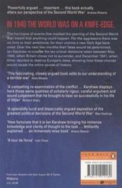 Fateful Choices - Ten Decisions That Changed The World, 1940-1941 - 4ème de couverture - Format classique