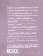 Le président de la ve république (2e édition) - 4ème de couverture - Format classique