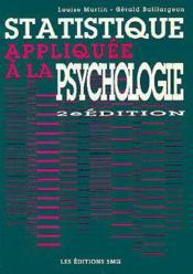 Statistique appliquee a la psychologie - Couverture - Format classique