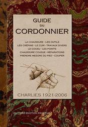 Guide du cordonnier - Intérieur - Format classique