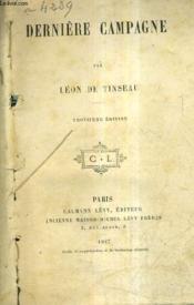 Derniere Campagne / 3e Edition. - Couverture - Format classique