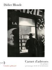 Carnet d'adresses de quelques personnages fictifs de la littérature - Couverture - Format classique