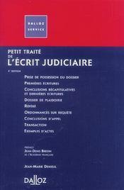 Petit Traite De L'Ecrit Judiciaire - Intérieur - Format classique