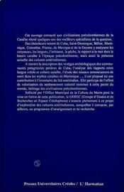 Civilisations Precolombien-Nes De La Caraibe - 4ème de couverture - Format classique