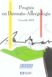 Progres En Dermato-Allergologie Grenoble2005 Tome 11 - Intérieur - Format classique
