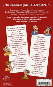 L'Officiel De L'Humour (Edition 2008) - 4ème de couverture - Format classique