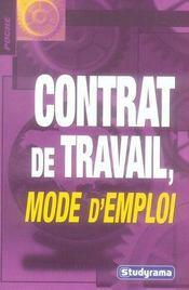 Contrat de travail mode d'emploi - Intérieur - Format classique