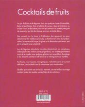 Cocktails de fruits - 4ème de couverture - Format classique
