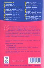 Sb physique chimie seconde - 4ème de couverture - Format classique