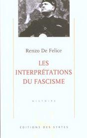 Les interprétations du fascisme - Intérieur - Format classique